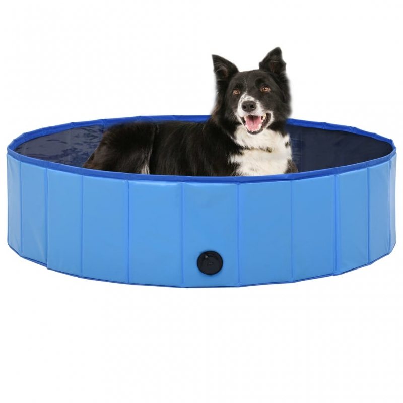 Hundepool Faltbar Blau 120 x 30 cm PVC