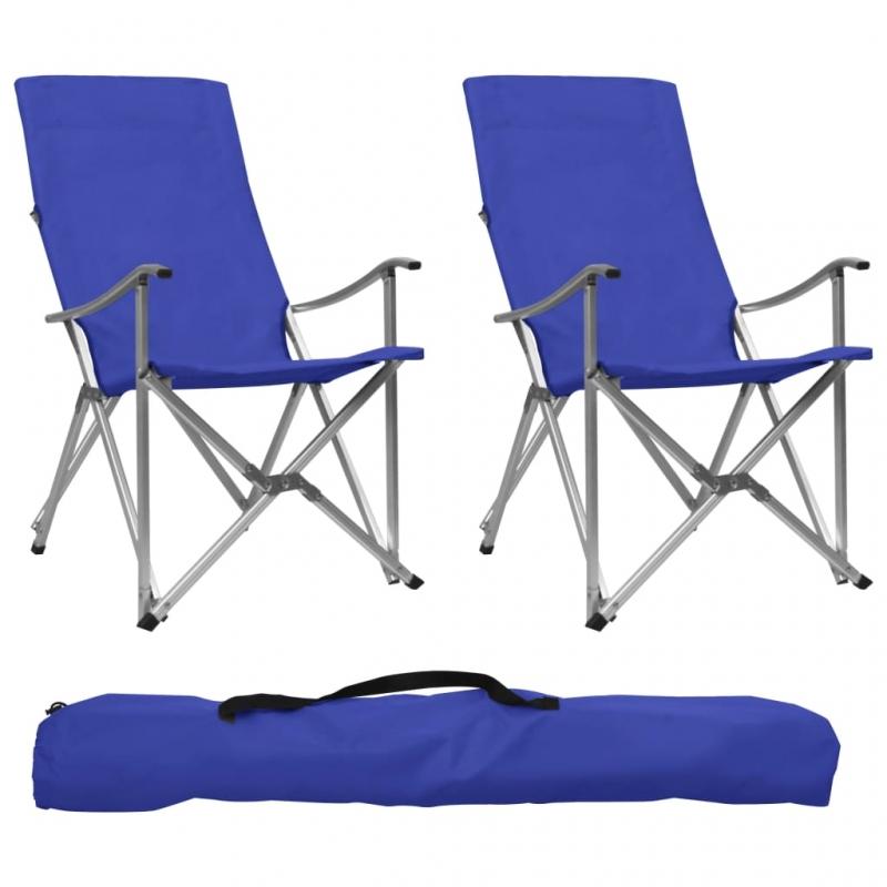 Klappbare Campingstühle 2 Stk. Blau