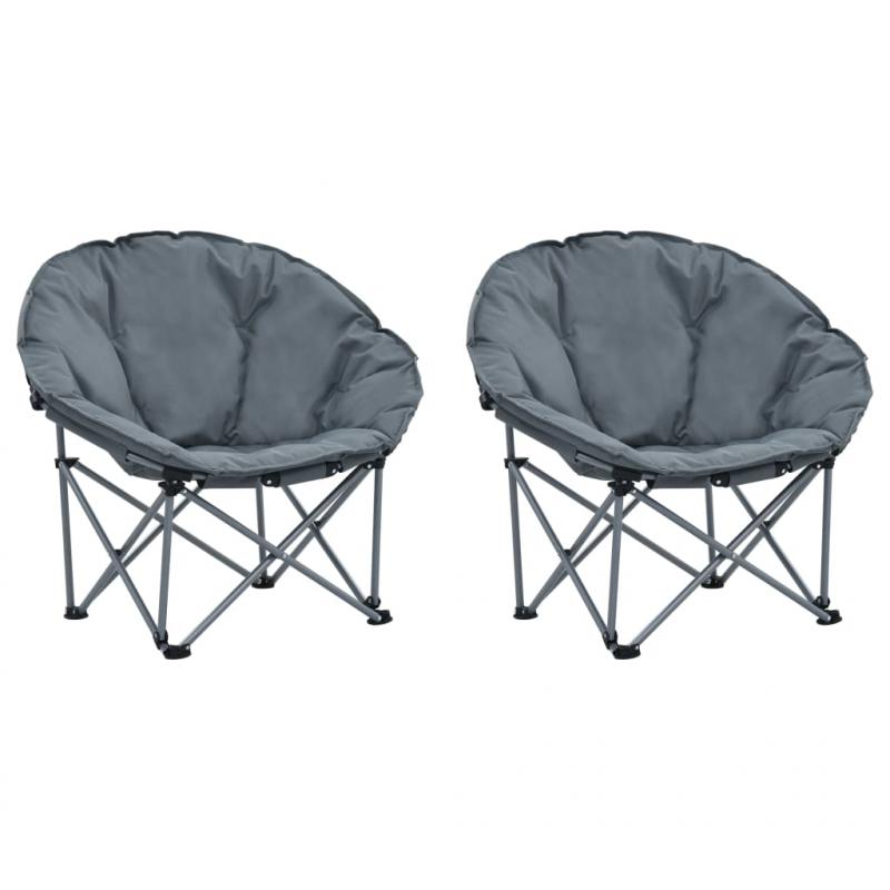 Moon-Stühle Klappbar 2 Stk. Grau