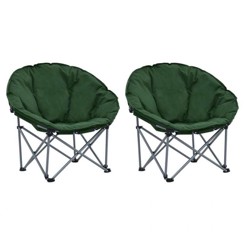 Moon-Stühle Klappbar 2 Stk. Grün
