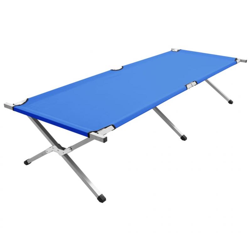 Campingbett 210x80x48 cm XXL Blau