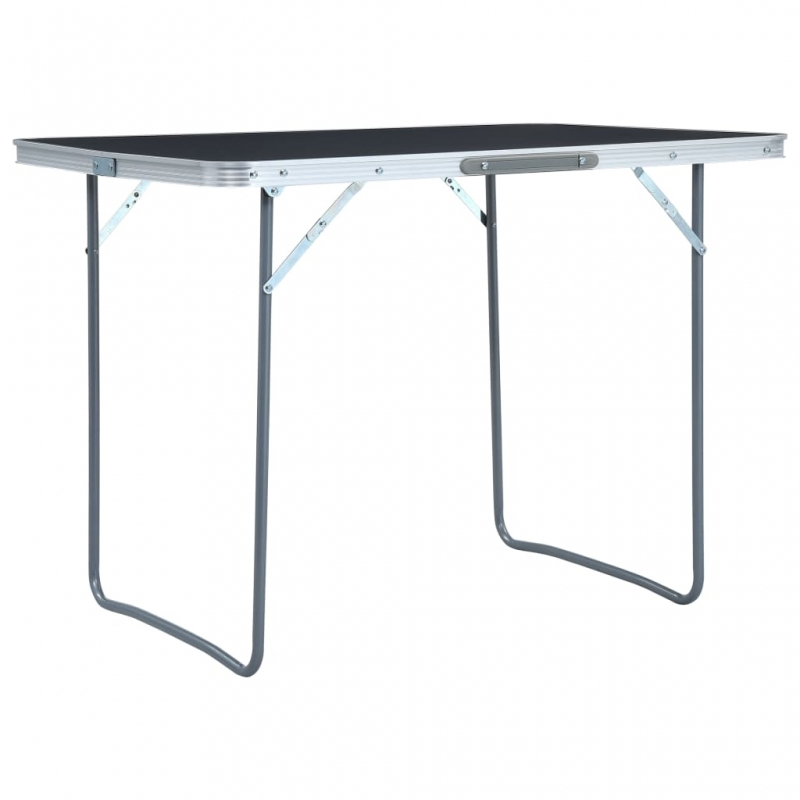 Klappbarer Campingtisch Grau Aluminium 120 x 60 cm