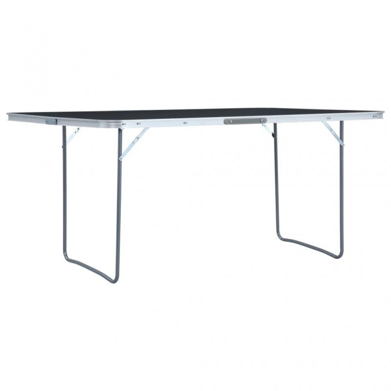 Klappbarer Campingtisch Grau Aluminium 180 x 60 cm