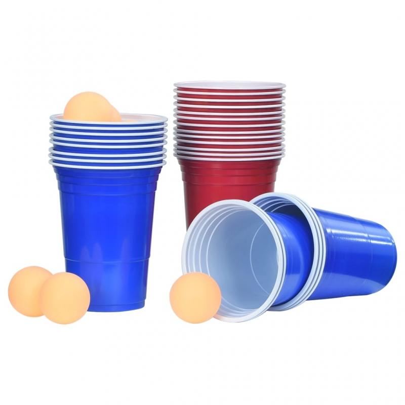Beer-Pong Set 0,5 L Kunststoff