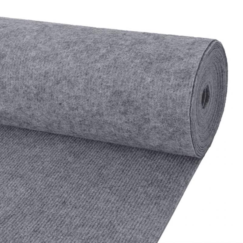 Messeteppich Rillen 1,6×10 m Grau