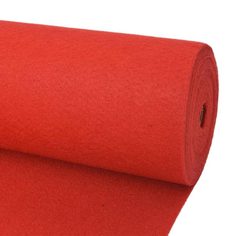 Messeteppich Glatt 1,6×12 m Rot