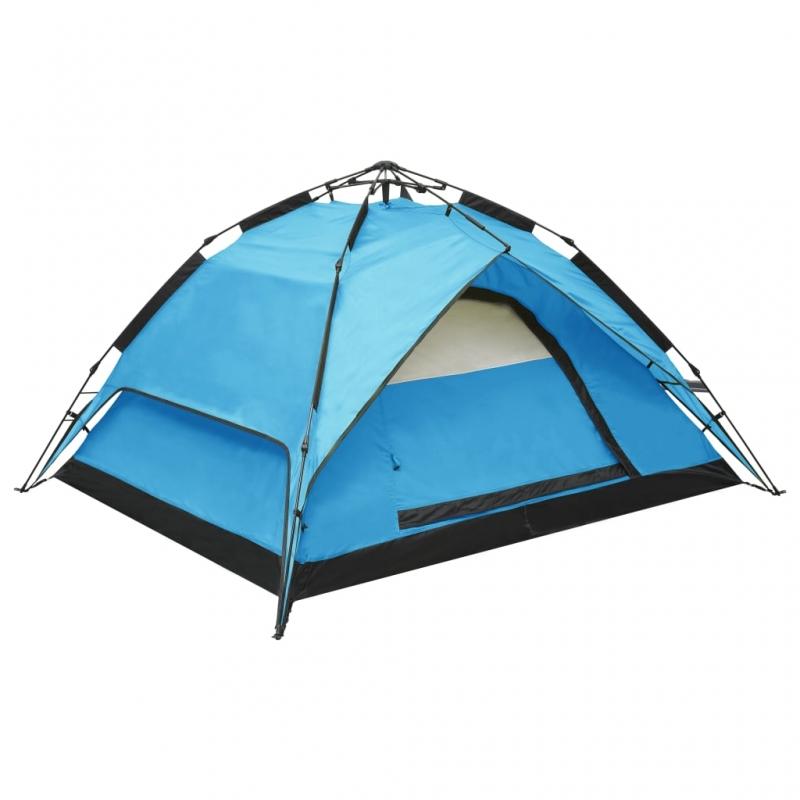 Pop-Up-Campingzelt 2-3 Personen 240×210×140 cm Blau