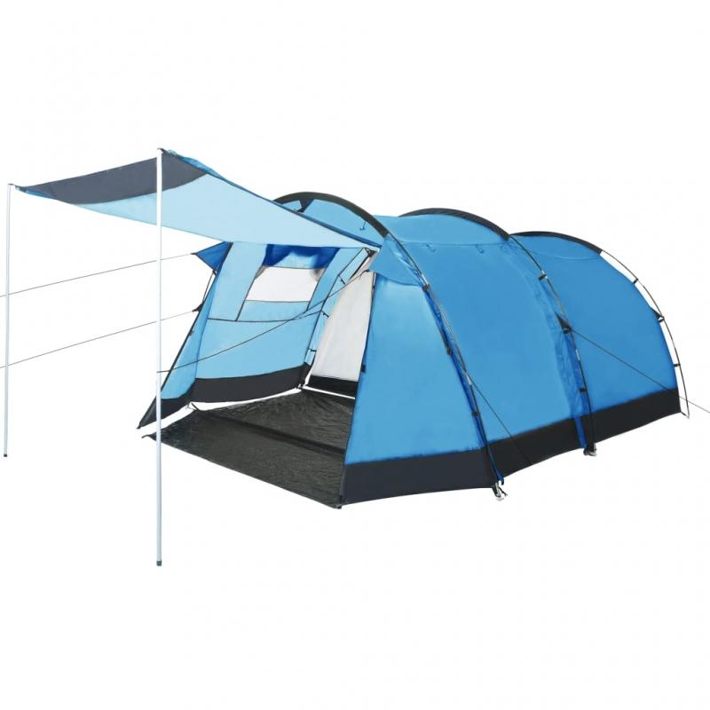 Tunnel-Campingzelt 4 Personen Blau