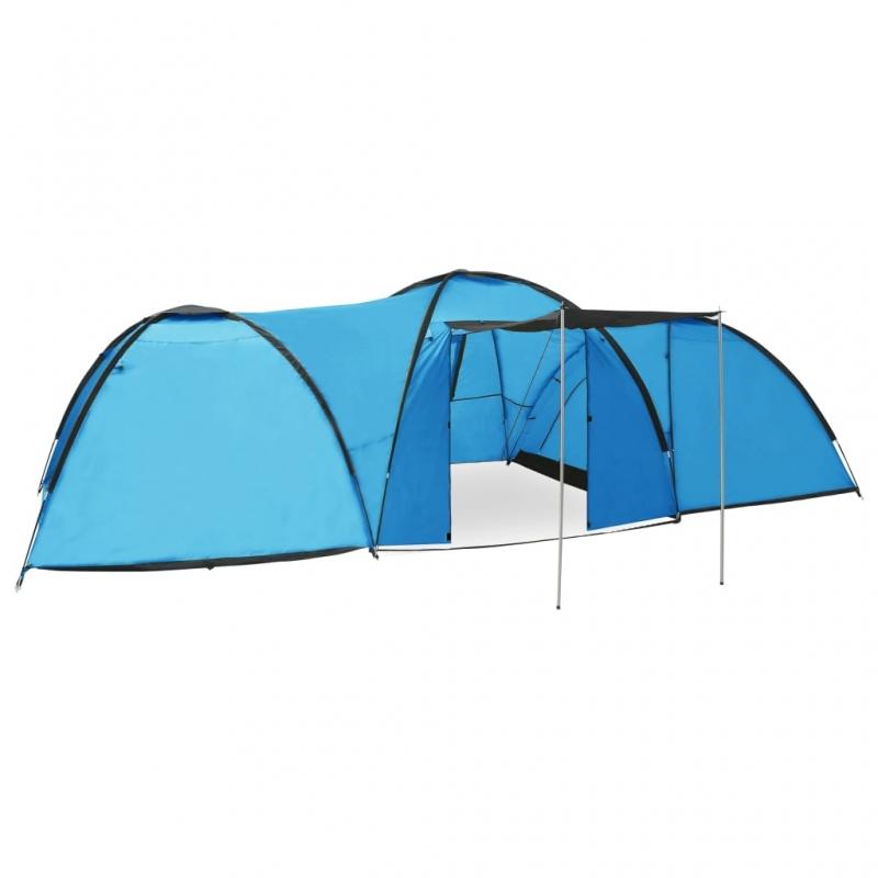 Camping-Igluzelt 650×240×190 cm 8 Personen Blau