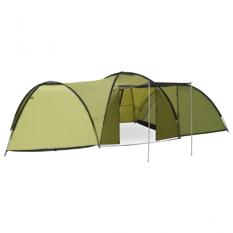 Camping-Igluzelt 650×240×190 cm 8 Personen Grün