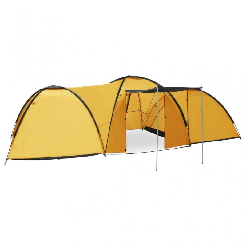 Camping-Igluzelt 650×240×190 cm 8 Personen Gelb