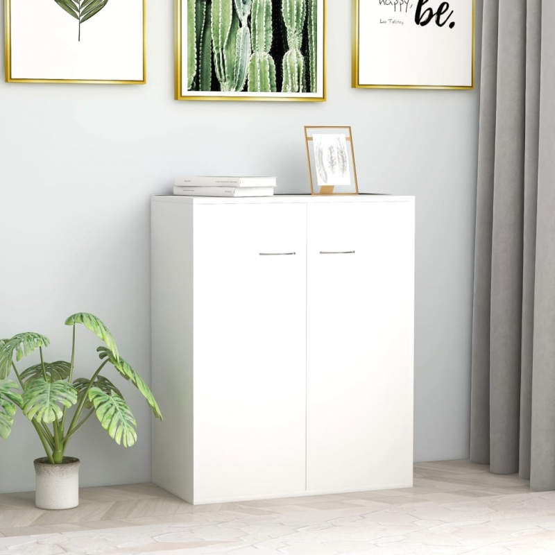 Sideboard Weiß 60 x 30 x 75 cm Spanplatte