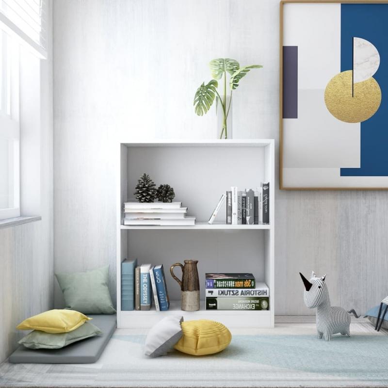 Bücherregal Weiß 60×24×74,5 cm Spanplatte