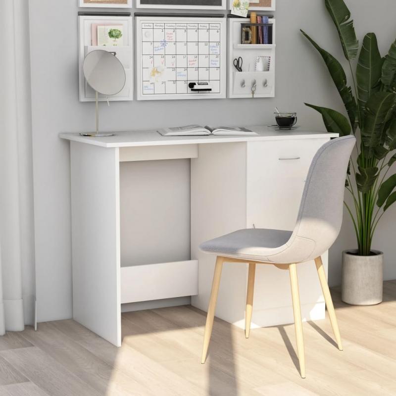 Schreibtisch Weiß 100×50×76 cm Spanplatte