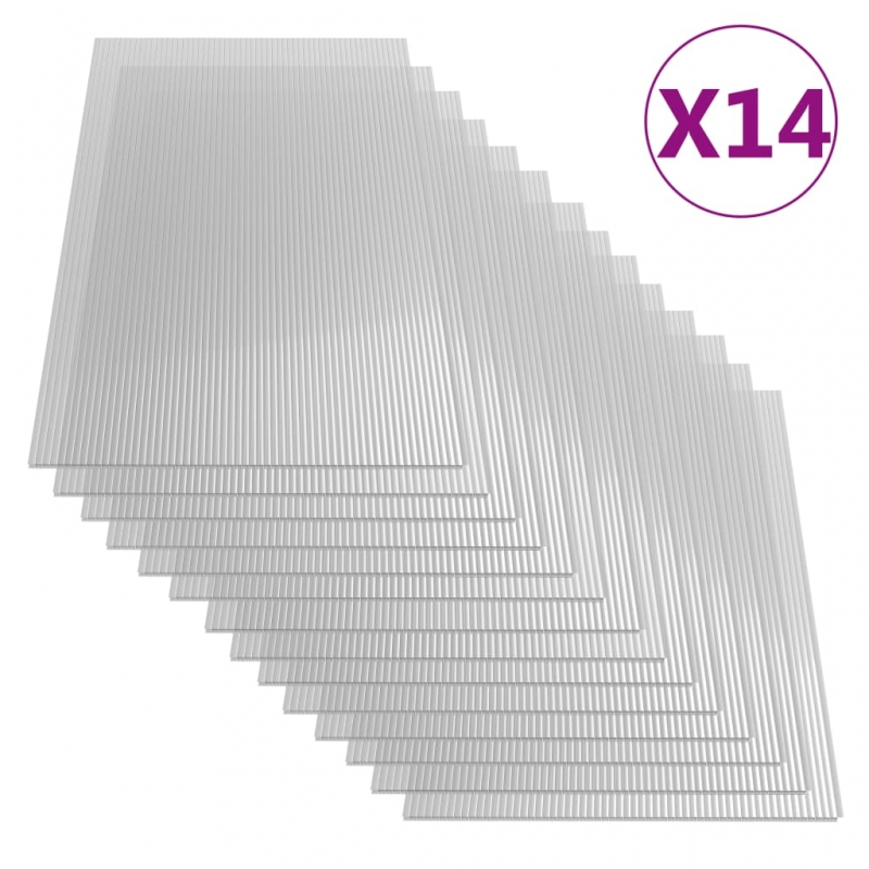 Polycarbonatplatten 14 Stk. 4 mm 121 x 60 cm