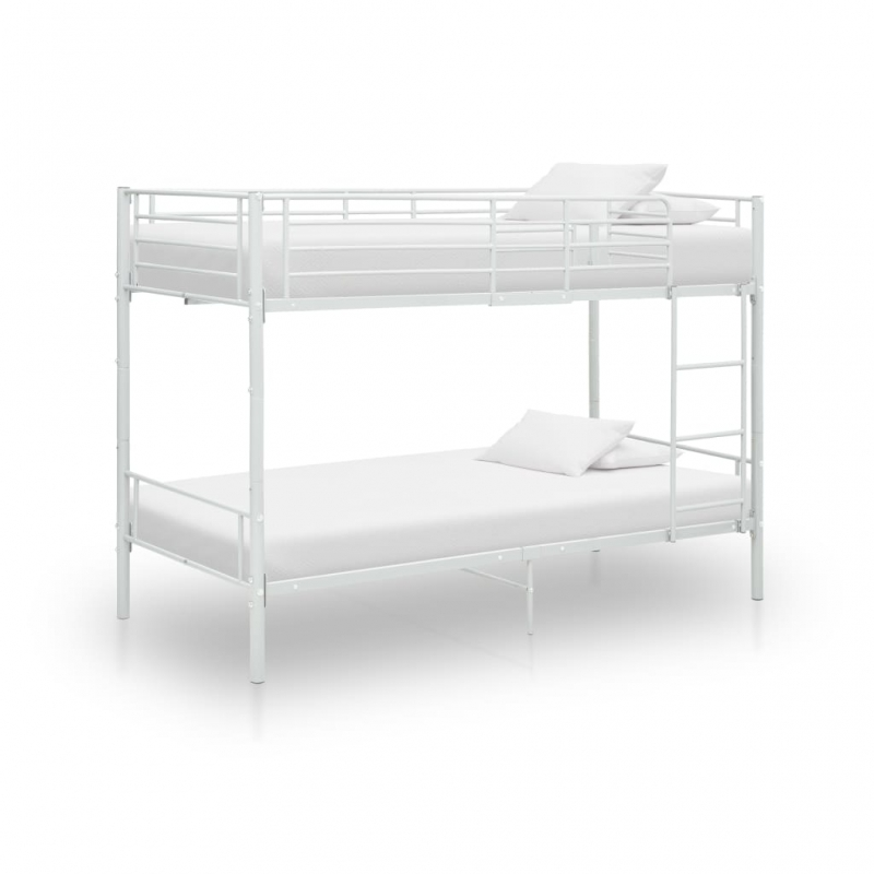 Etagenbett Weiß Metall 90×200 cm