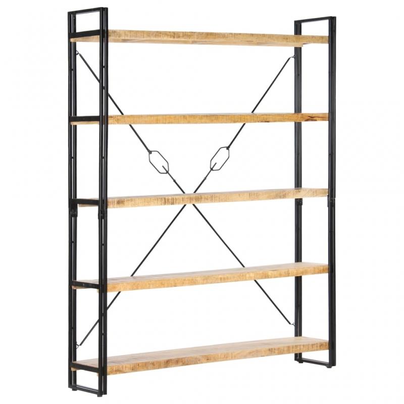 Bücherregal 5 Fächer 140x30x180 cm Mango Massivholz