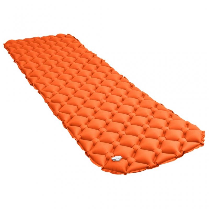Aufblasbare Isomatte 58 x 190 cm Orange