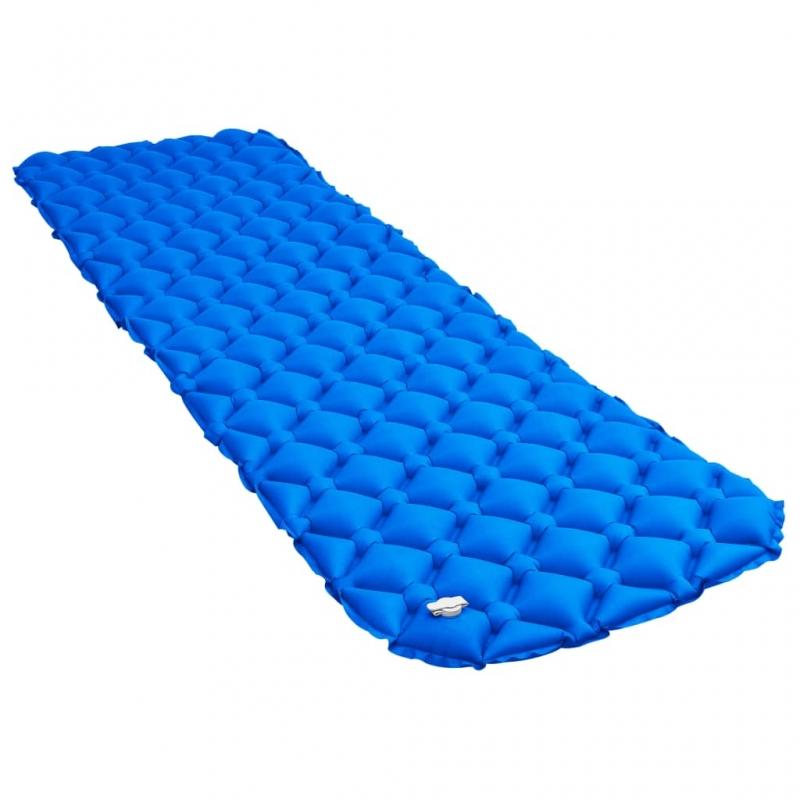 Aufblasbare Isomatte 58 x 190 cm Blau