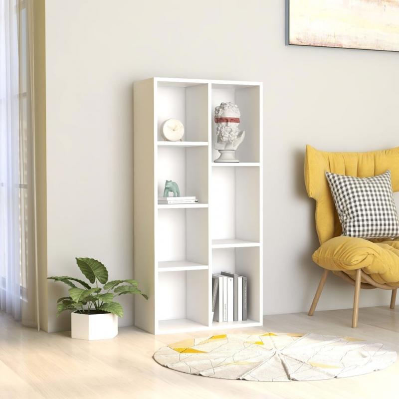 Bücherregal Weiß 50×25×106 cm Spanplatte