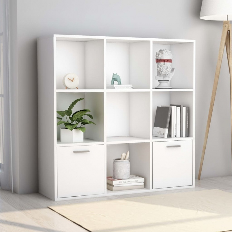 Bücherregal Weiß 98 x 30 x 98 cm Spanplatte