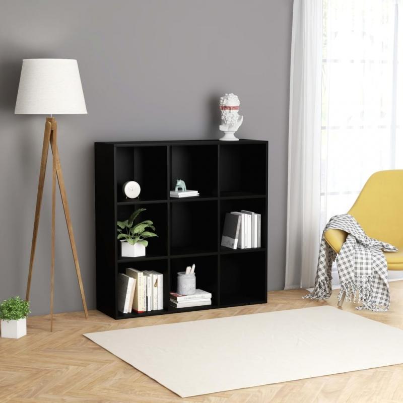 Bücherregal Schwarz 98 x 30 x 98 cm Spanplatte