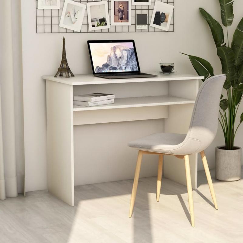Schreibtisch Weiß 90×50×74 cm Spanplatte