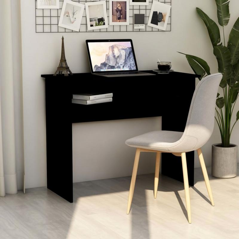 Schreibtisch Schwarz 90×50×74 cm Spanplatte