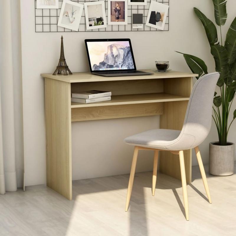 Schreibtisch Sonoma-Eiche 90x50x74 cm Spanplatte