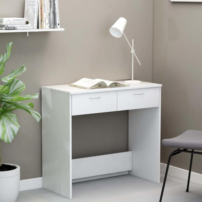 Schreibtisch Weiß 80×40×75 cm Spanplatte