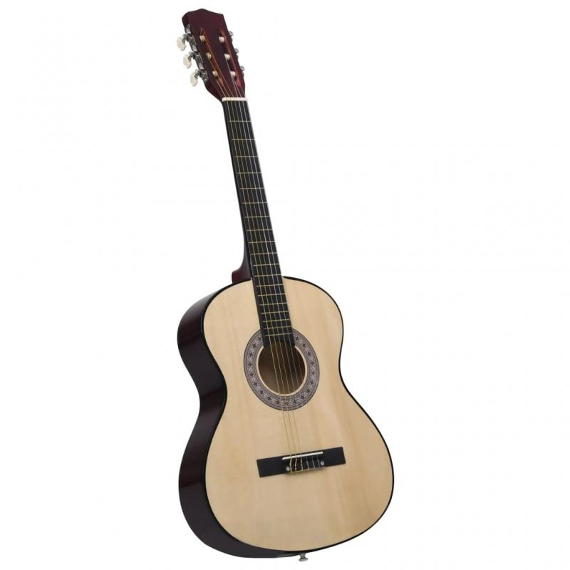 Klassische Gitarre für Anfänger 4/4 39 Lindenholz