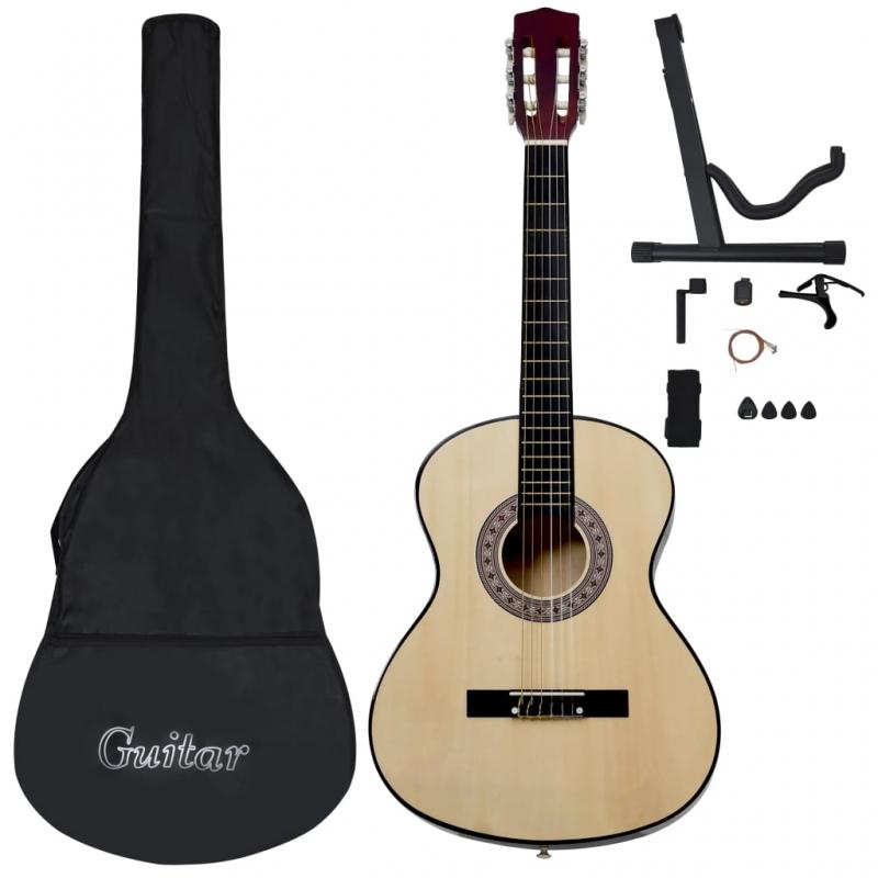 12-tlg. Klassische Gitarre für Anfänger 4/4 39