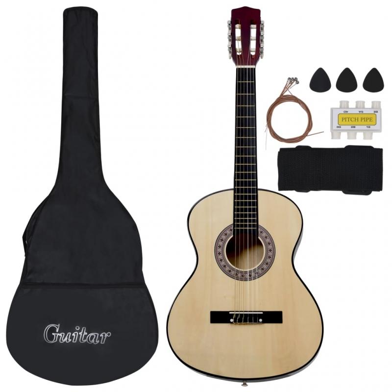 8-tlg. Klassische Gitarre für Kinder und Anfänger 3/4 36