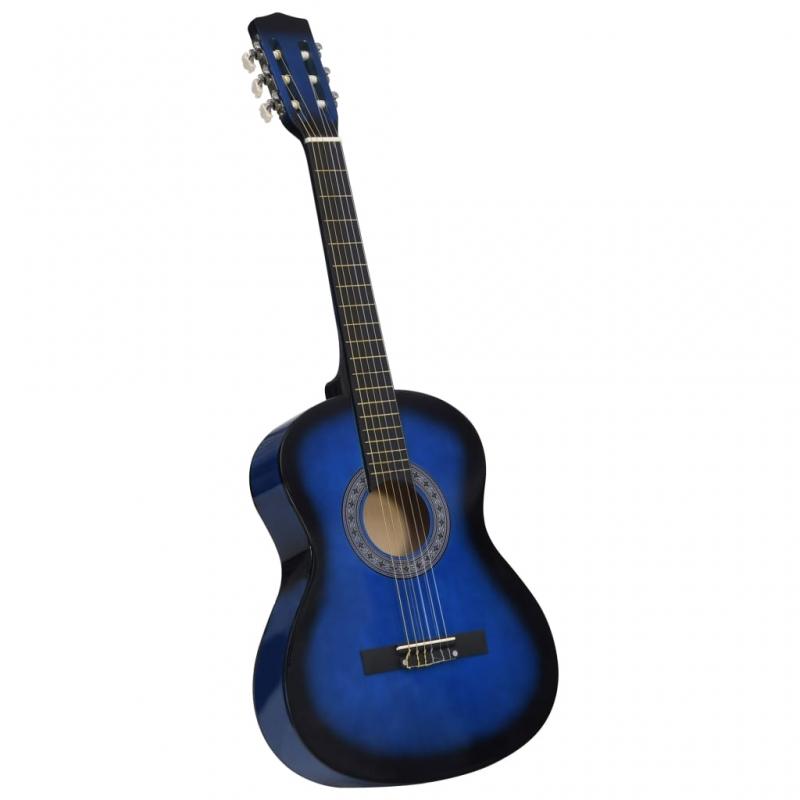 Klassikgitarre für Anfänger und Kinder Blau 3/4 36