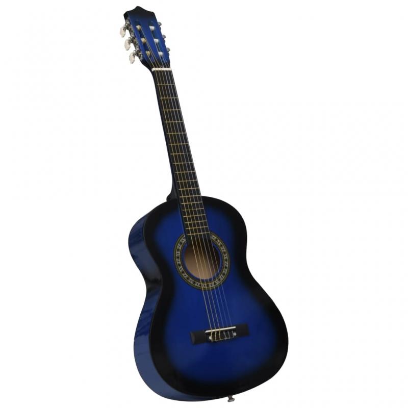 Klassikgitarre für Anfänger und Kinder Blau 1/2 34