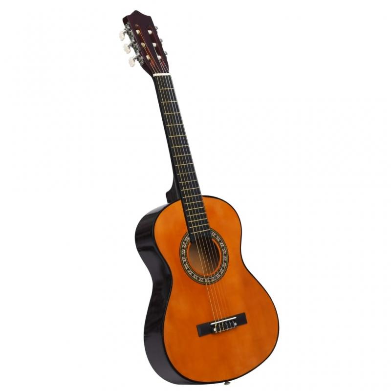 Klassikgitarre für Anfänger und Kinder 1/2 34 Lindenholz