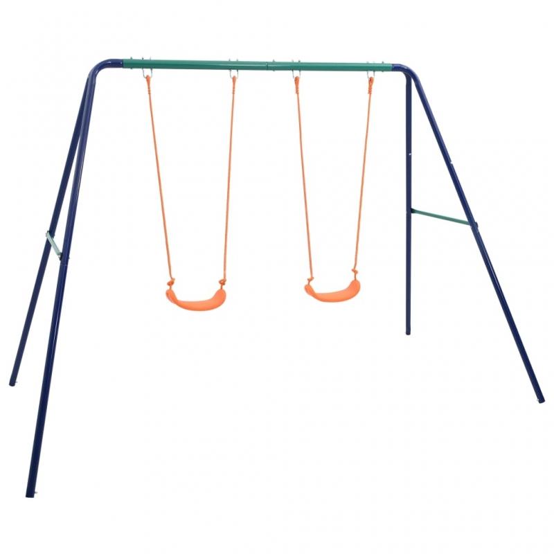 Schaukelset mit 2 Sitzen Stahl