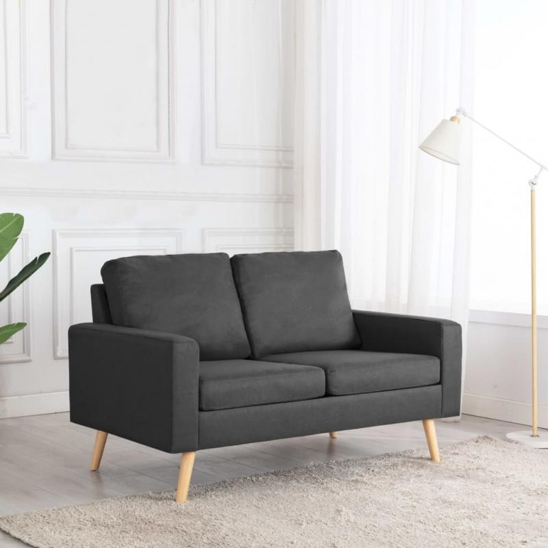 2-Sitzer-Sofa Dunkelgrau Stoff