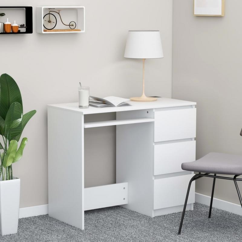 Schreibtisch Weiß 90 x 45 x 76 cm Spanplatte