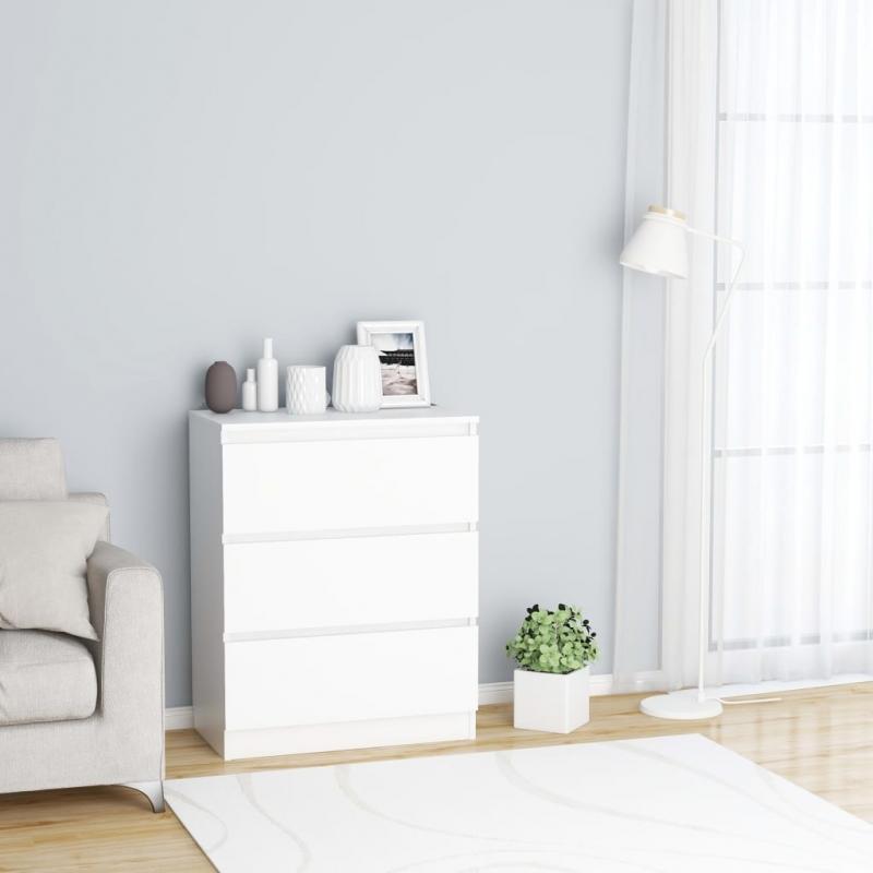 Sideboard Weiß 60 x 35 x 76 cm Spanplatte