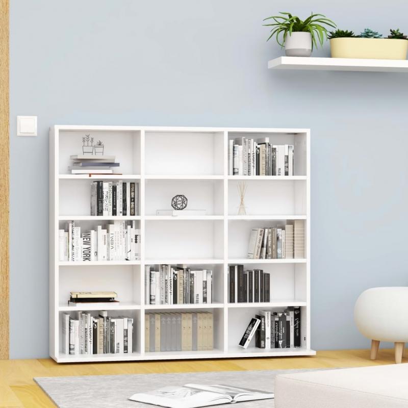 CD-Regal Weiß 102x23x89,5 cm Spanplatte