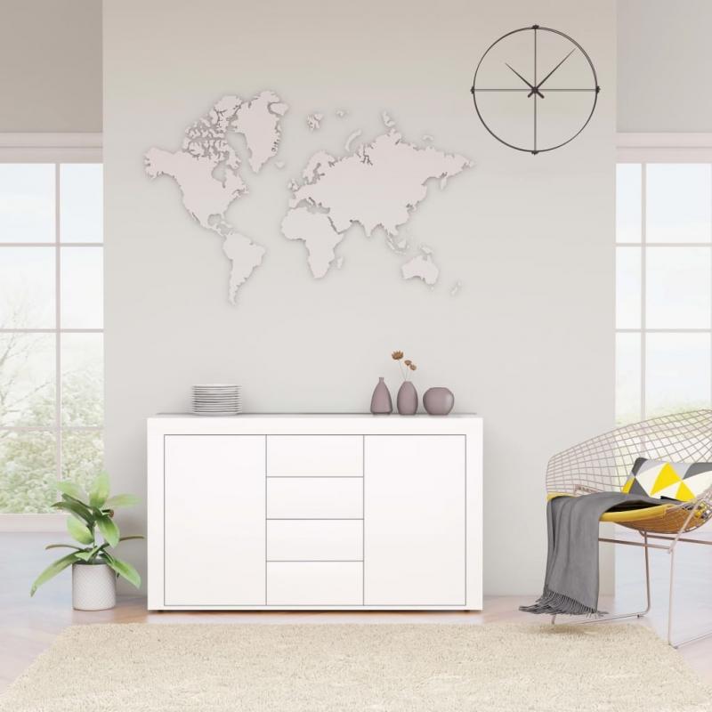 Sideboard Weiß 120×36×69 cm Spanplatte