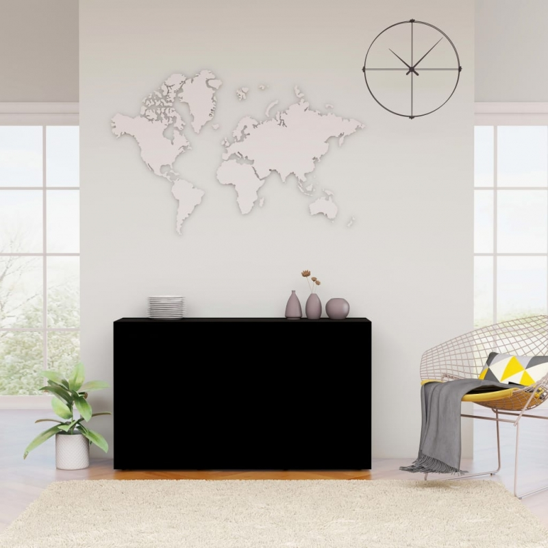 Sideboard Schwarz 120×36×69 cm Spanplatte
