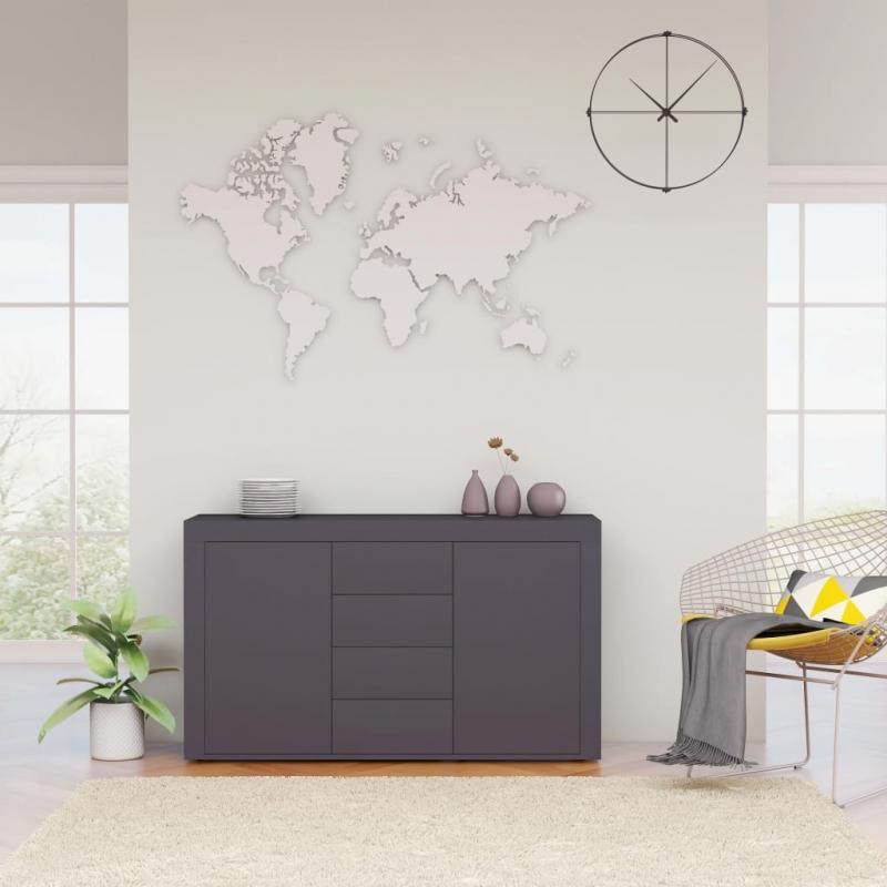 Sideboard Grau 120×36×69 cm Spanplatte