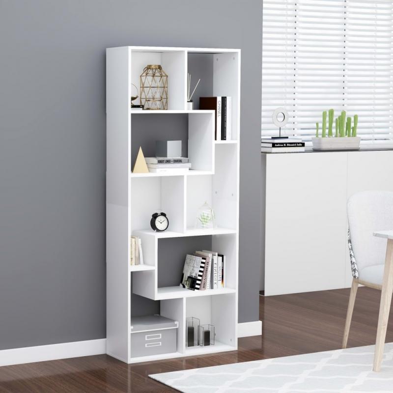 Bücherregal Weiß 67x24x161 cm Spanplatte