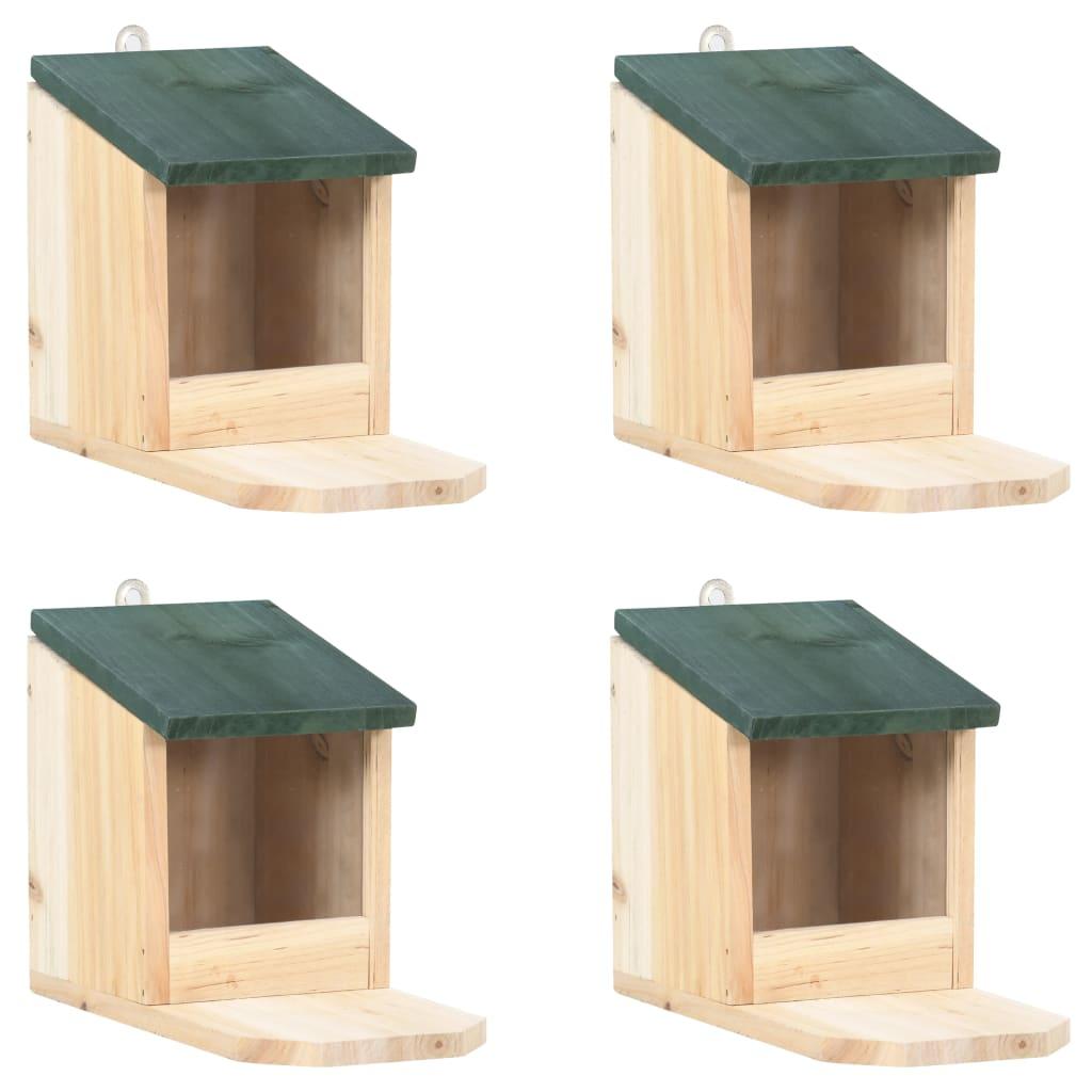 Eichhörnchen Futterhäuser 4 Stk. Tannenholz