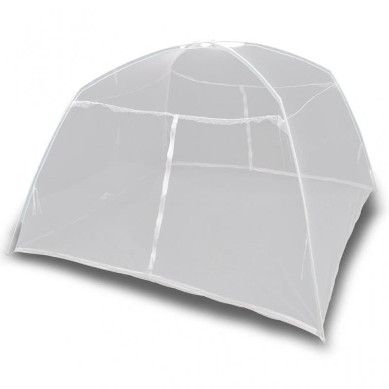 Campingzelt 200×180×150 cm Fiberglas Weiß