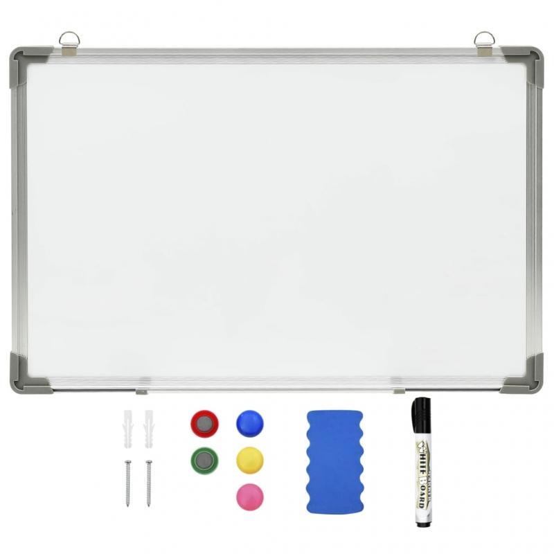 Magnetisches Whiteboard Weiß 50 x 35 cm Stahl