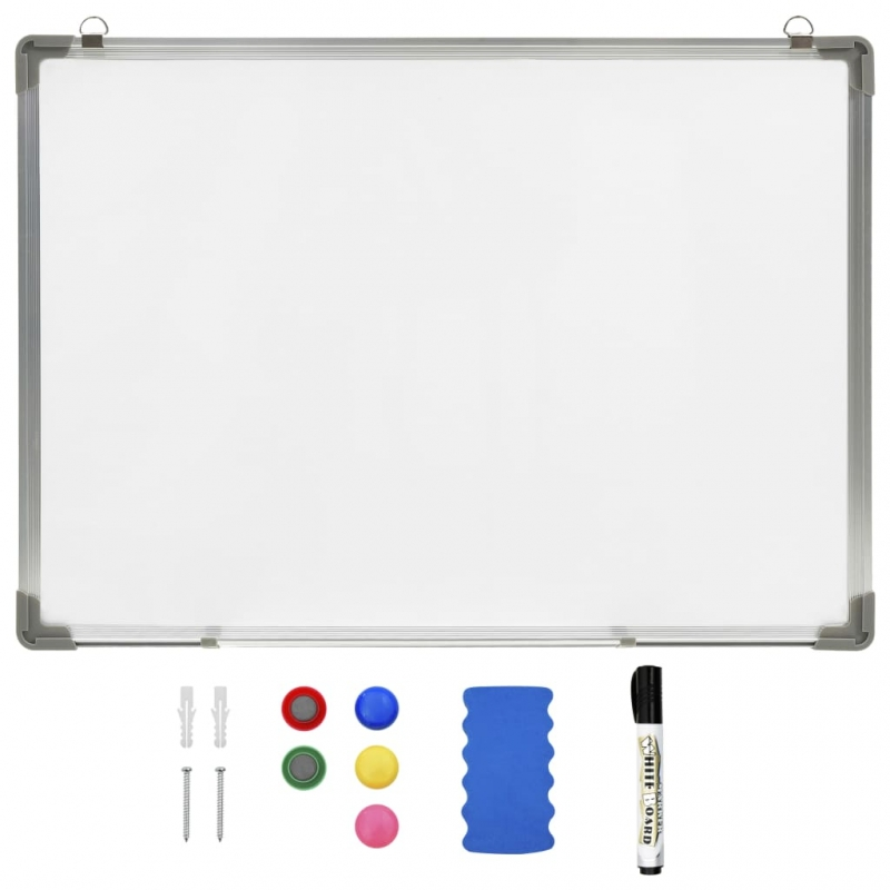 Magnetisches Whiteboard Weiß 70 x 50 cm Stahl