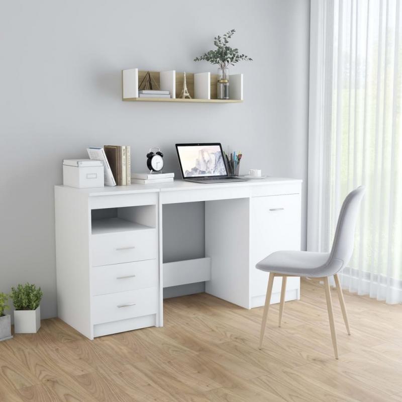 Schreibtisch Weiß 140 x 50 x 76 cm Spanplatte